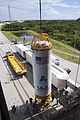 Centaur upper stage for RBSP on Launch Pad 41.jpg