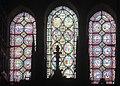 Châlons-en-Champagne, Collégiale Notre-Dame-en-Vaux, lead-glass windows below the gothic rose window.JPG