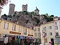 Château de Foix vu de la place Pyrène.jpg