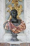 Château de Versailles, salon de la paix, buste d'empereur romain (Claude)