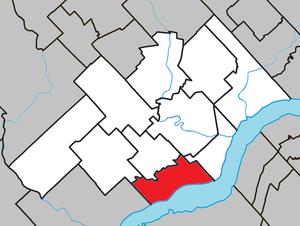 Champlain, Quebec - Image: Champlain Quebec location diagram