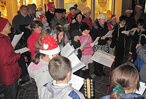 Christmas carol singing in Jèrriais