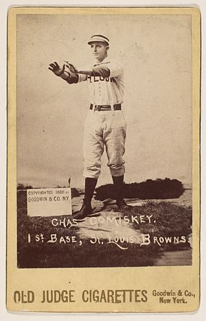 Charles Comiskey - An 1888 baseball card showing Comiskey as a St. Louis Brown.