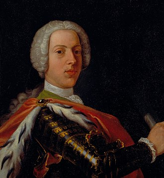 Cosmo Alexander - Alexander's portrait of Bonnie Prince Charlie, painted in Rome and now in the collection of the Stirling Smith Museum and Art Gallery