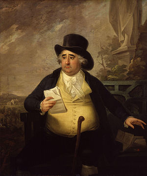 William Fitzwilliam, 4th Earl Fitzwilliam - Charles James Fox as painted by Karl Anton Hickel (d. 1798). Fitzwilliam would eventually break with Fox in 1793 over Fox's support for the French Revolution and would not rejoin him until 1801 when he supported peace with France.