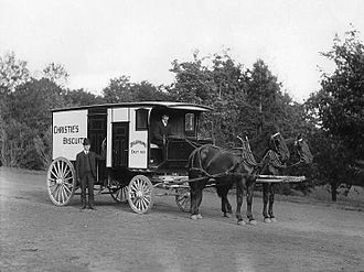 William Mellis Christie - Christie's biscuit wagon, Montreal, 1904