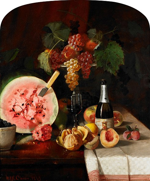 File:Chase William Merritt Still Life With Watermelon 1869.jpg