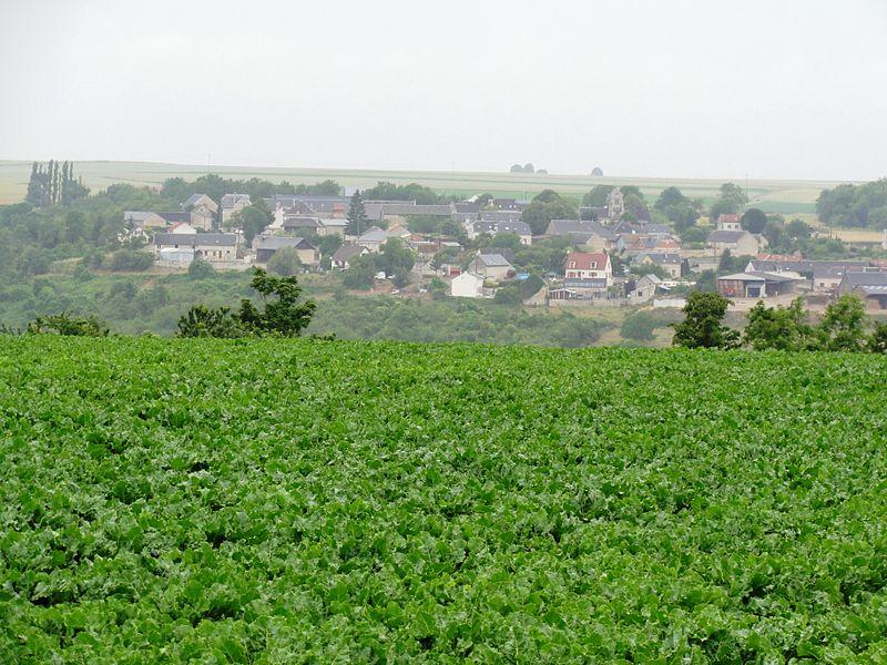 Chavigny (Aisne) le village vue du sud