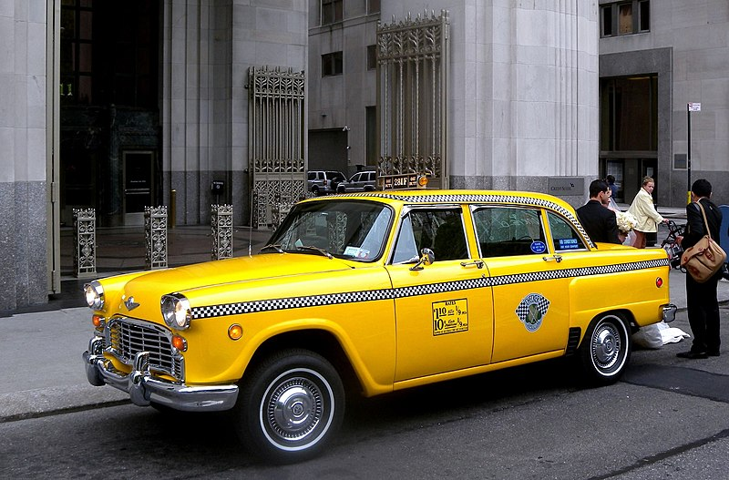 File:Checker Taxi Madison Sq jeh.jpg