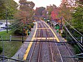 Chestnut Hill station from overpass, October 2015.jpg