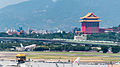 China Eastern Airlines Airbus A330-343X B-6127 Final Approach at Taipei Songshan Airport 20140930a.jpg
