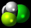 Chlorofluoromethane 3D spacefill.png