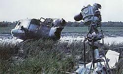 Chopper wreck at Ap Bac-LF