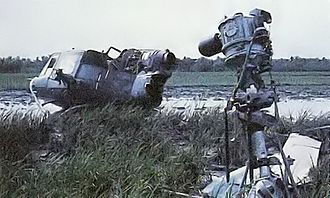 Battle of Ap Bac - This UH-1 gunship was one of five helicopters shot down during the Battle of Ap Bac