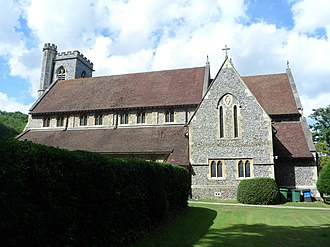 Grade II* listed buildings in Epsom and Ewell - Image: Christ Church, Christ Church Road, Epsom Common (NHLE Code 1289540)
