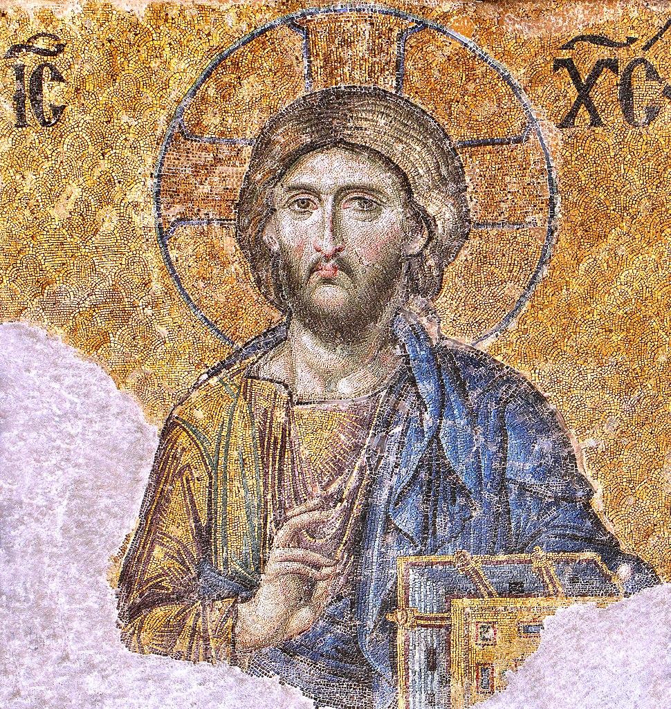 Christ Pantocrator mosaic from Hagia Sophia 2744 x 2900 pixels 3.1 MB