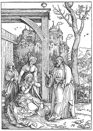 Christ taking leave of his Mother - Image: Christ taking leave of his Mother, by Albrecht Dürer