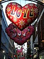 Christmas decorations, Carnaby Street W1 - geograph.org.uk - 1600127.jpg