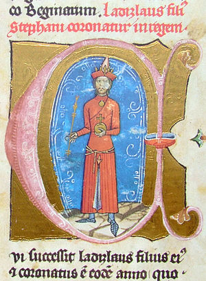 Ladislaus IV of Hungary - Ladislaus depicted in apparel favored by the Cumans (from the Illuminated Chronicle)