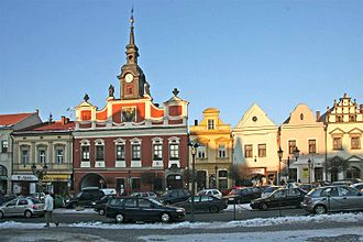 Chrudim - Houses at Ressel Square
