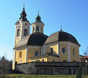 Dobrova, Dobrova–Polhov Gradec - Assumption Church in Dobrova