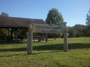 Zachariah Cicott - Image: Cicott Park entrance sign