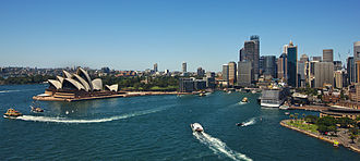Circular Quay - Circular Quay from the Sydney Harbour Bridge.