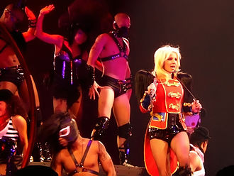 "Circus (Britney Spears album) - Spears performing ""Circus"" during The Circus Starring Britney Spears in 2009"