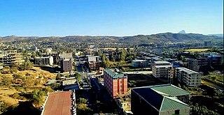 Adwa Town in Tigray, Ethiopia