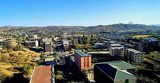 Adwa - City of Adwa, skyline from Drone camera