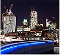 City of London. Night time lights.jpg
