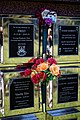 City of London Cemetery floral tribute memorial wall flute vase 3.jpg