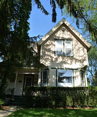 National Register of Historic Places listings in Columbia County, Wisconsin - Image: Clara F Bacon House