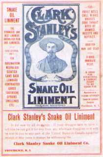 Snake oil fraudulent medication
