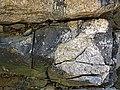 Clast-rich impact pseudotachylite (Sudbury Breccia, Paleoproterozoic, 1.85 Ga; Crab Lake South roadcut, south-southeast of Cartier, Ontario, Canada) 9 (46818332955).jpg