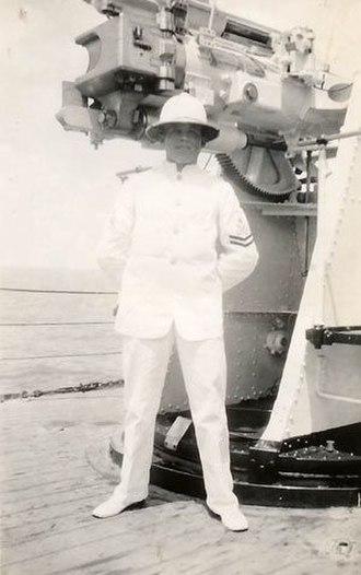 Claude Choules - PO Choules aboard HMAS Canberra, 1929