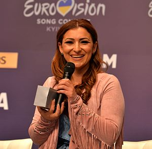 Malta in the Eurovision Song Contest 2017 - Claudia Faniello during a press meet and greet