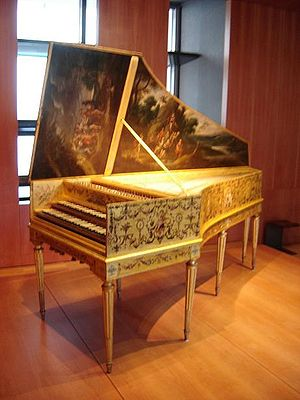 Historically informed performance - Harpsichord by Andreas Ruckers, Antwerp (1646) and expanded by Pascal Taskin, Paris (1780), (Paris, Musée de la Musique)