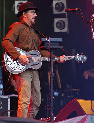 Les Claypool - Playing a Bayou 4 bass with Primus at the Open'er Festival 2011 in Gdynia, Poland.
