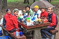 Cle Elum area - for more Orienteering - Carol, Patrick, - ? - ? - Andrea & Magnus - how come there's only booze on one side of the table?? - (28112381564).jpg