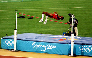 Athletics at the 2000 Summer Olympics – Men's high jump - Silver medallist Javier Sotomayor