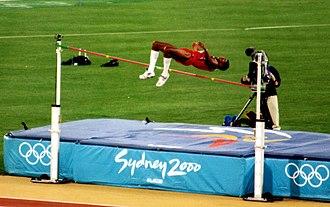 Athletics at the 2000 Summer Olympics – Men's high jump - Silver medallist Javier Sotomayor