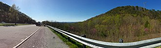 Interstate 75 in Tennessee - Scenic view along Interstate 75 southbound crossing White Oak Mountain