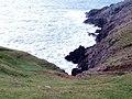 Cliff-top above Ogof Gathwen - geograph.org.uk - 2141661.jpg
