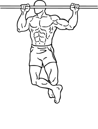 Pull-up (exercise) - Climbers' pull-up end