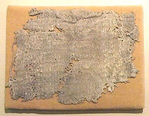 Huaca Prieta - Cotton cloth fragment from Huaca Prieta, 2500 BC - American Museum of Natural History, New York