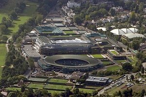 All England Lawn Tennis and Croquet Club - Aerial view of the All England Lawn Tennis and Croquet Club