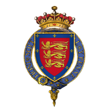 Coat of Arms of Sir John Holland, Earl of Huntingdon, KG.png