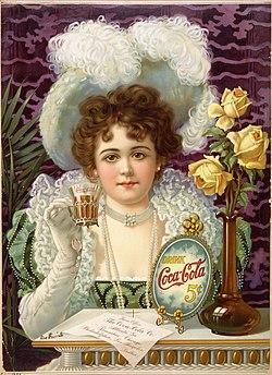 Anúncio publicitário da Coca-Cola (1900).