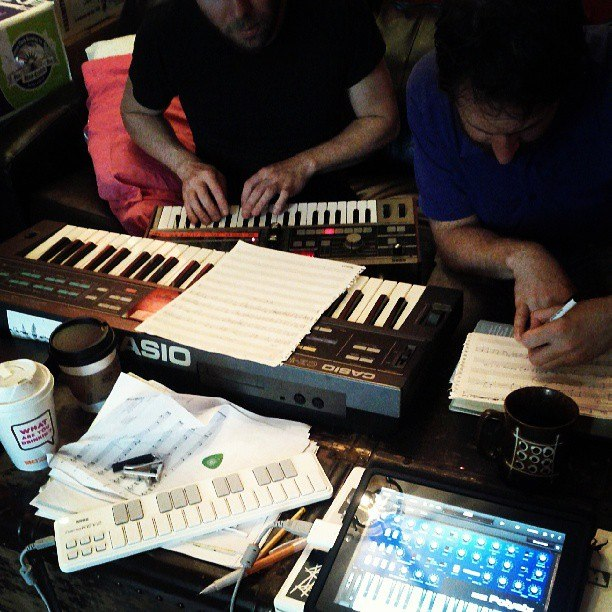 Coffee and synths. KayoDot album %22Hubardo%22 recording, 2013-06-13